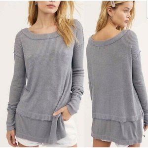 Free people  Thermal Knit Tunic In Grey
